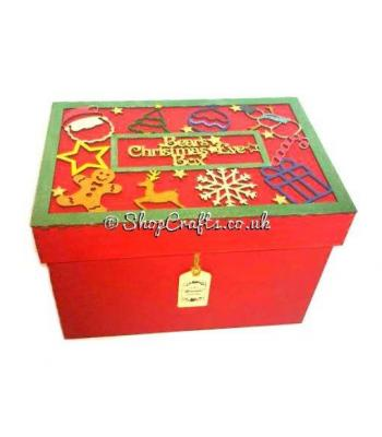 Design your own Christmas Eve box frame for lid (with or without box).