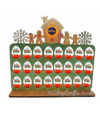 Reusable 6mm thick Gingerbread advent for kinder eggs - OTHER DESIGNS AVAILABLE