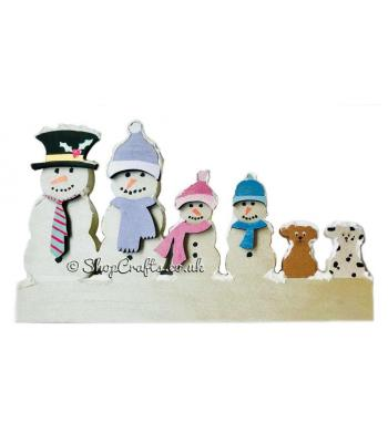18mm thick freestanding Snowman Christmas family.