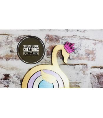 Rainbow stacker - Swan theme *OTHER DESIGNS AVAILABLE*