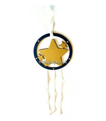 Hanging mini dream catcher - star version.