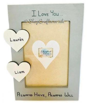 18mm thick freestanding photo frame - choose your theme