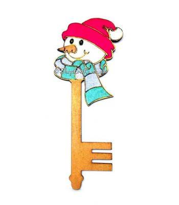 Christmas character magic key - Snowman design