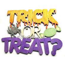 """""""Trick or Treat"""" Halloween sign."""