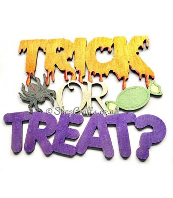 """Trick or Treat"" Halloween sign."