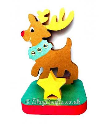 18mm thick freestanding Stocking hanger - Reindeer.