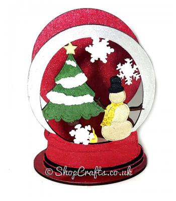 Christmas mini tea light holder - Snowglobe version *OTHER DESIGNS AVAILABLE*