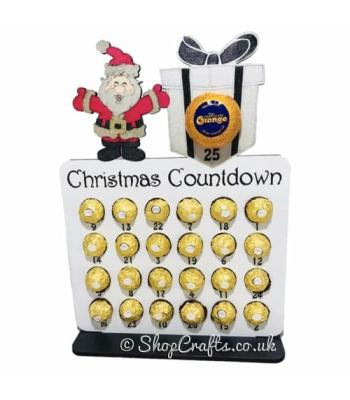 Reusable 6mm thick Santa and Present advent calendar - OTHER DESIGNS AVAILABLE
