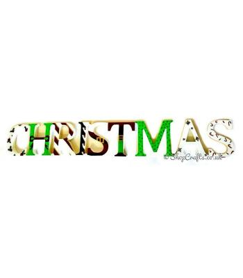 """Storybook's original design """"Christmas"""" 18mm thick freestanding letters."""