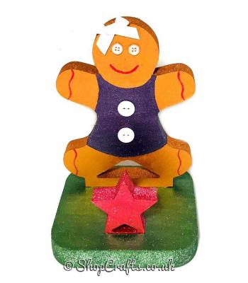 18mm thick freestanding stocking hanger - Gingerbread lady.