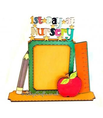 """1st Day at School/Nursery"" photo frame on stand"