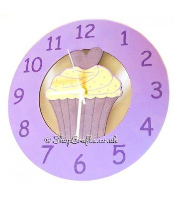 Wooden wall clock - cupcake version.