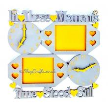 """In These Moments"" personalised clock and frame - alternative design."