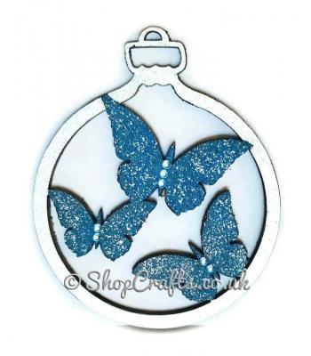 Butterfly character tree bauble.