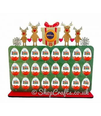 Reusable 6mm thick Design Your Own reindeer family kinder advent-OTHER DESIGNS AVAILABLE.