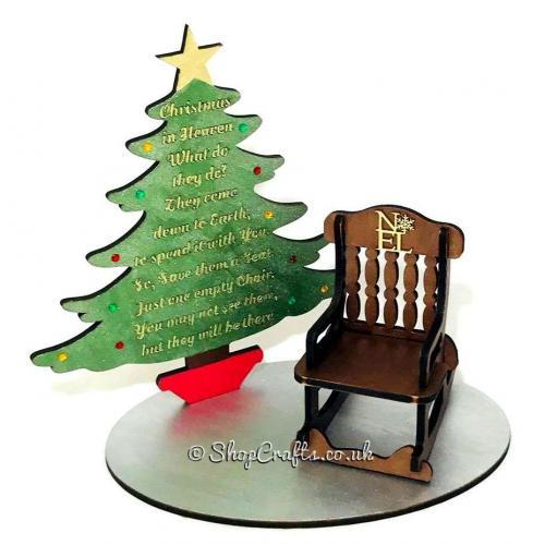 Strange Christmas In Heaven Memorial Christmas Tree And Rocking Chair On Stand Machost Co Dining Chair Design Ideas Machostcouk