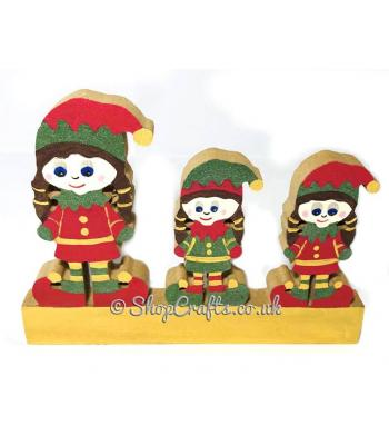 18mm thick freestanding Elf Christmas family.