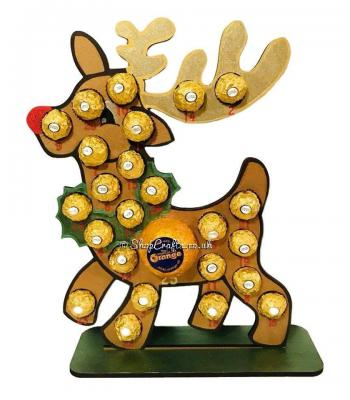 Reusable 6mm thick reindeer chocolate advent - OTHER DESIGNS AVAILABLE