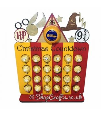 Reusable 6mm thick Wizard themed advent calendar - OTHER DESIGNS AVAILABLE