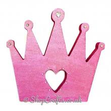 """Shelfie"" - 18mm thick freestanding Princess crown shape"