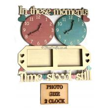 """""""In These Moments"""" personalised clock and frame design"""