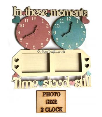 """In These Moments"" personalised clock and frame design"