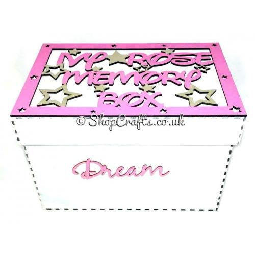 Memory Keepsake Box With Personalised Frame On The Lid