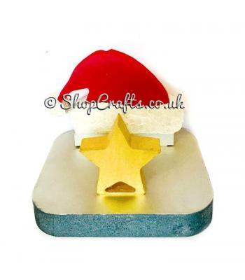 18mm thick freestanding stocking hanger - Santa hat.