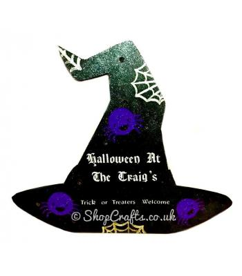 18mm thick freestanding Halloween shape with lights - Witches' hat version.