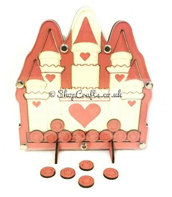 Princess Castle shaped reward chart token drop box.