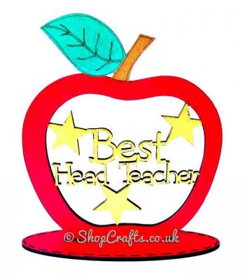 Best Head Teacher keepsake apple on stand.