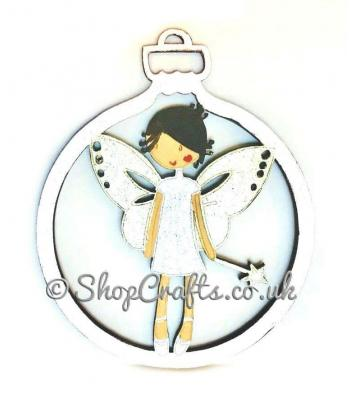Fairy character christmas tree bauble.
