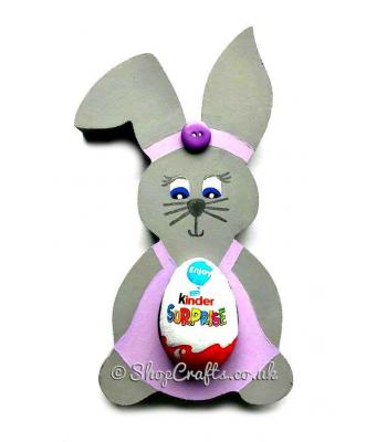 Rabbit-themed 18mm thick freestanding confectionary holder.