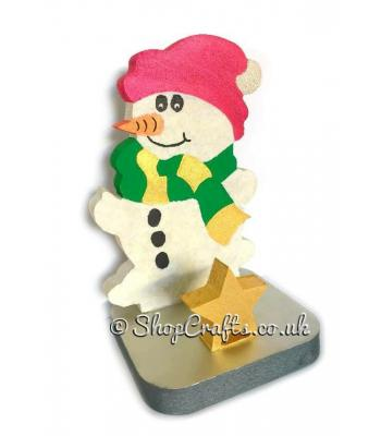 18mm thick freestanding stocking hanger - snowman.