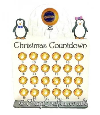 Reusable 6mm thick penguins and igloo themed chocolate advent calendar-OTHER DESIGNS AVAILABLE