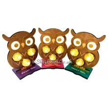 Owl shaped confectionary holder.