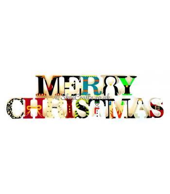 "Storybook's original design Christmas letters - ""Merry Christmas"""