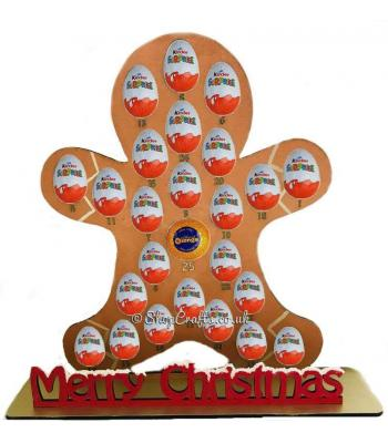 Reusable 6mm thick Gingerbread advent for Kinder eggs & Chocolate Orange - OTHER DESIGNS AVAILABLE
