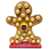 Reusable 6mm thick Gingerbread Man chocolate advent calendar - OTHER DESIGNS AVAILABLE