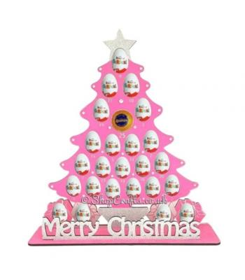 6mm reusable Christmas Tree Choc Orange & Kinder Holder Advent Calendar,*More designs available*