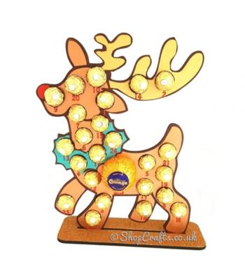 6mm reusable Reindeer ferrero rocher Chocolate Holder Advent Calendar *more designs available*