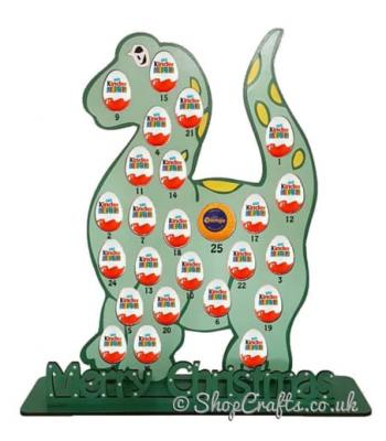 Reusable 6mm Dinosaur Chocolate Orange & Kinder Egg Advent Calendar (other designs available)