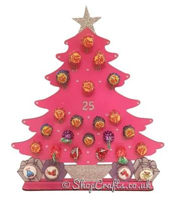 3mm Christmas Tree Lolly Pop Holder Advent Calendar (other designs available)