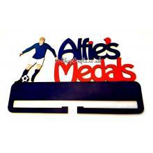 Personalised name football medal holder