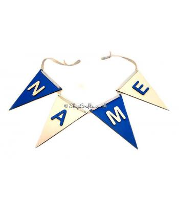 Personalised Traditional flag name bunting