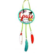 Personalised Name Dinosaur dream catcher with feathers