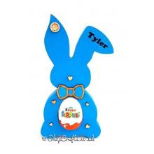 18mm personalised Freestanding Easter Rabbit KINDER or CREME EGG Holder with Bow tie