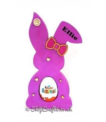 18mm Freestanding Easter Rabbit KINDER or CREME EGG Holder with Bow