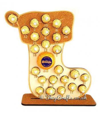 Reusable 6mm Stocking ferrero focher and lindt Advent Calendar *More designs available*