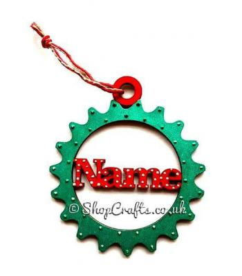 Steampunk Cog Christmas Tree Bauble